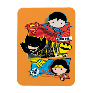 Chibi Heroes Ready For Action! Magnet