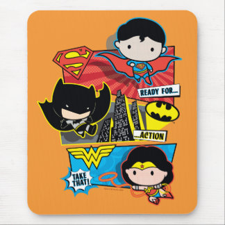 Chibi Heroes Ready For Action! Mouse Pad