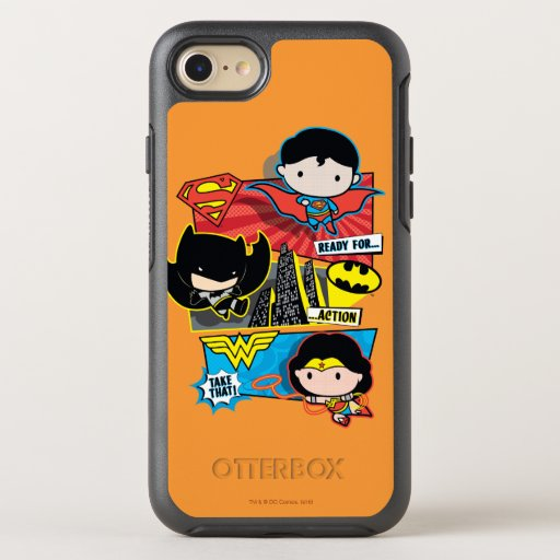 Chibi Heroes Ready For Action! OtterBox Symmetry iPhone SE/8/7 Case