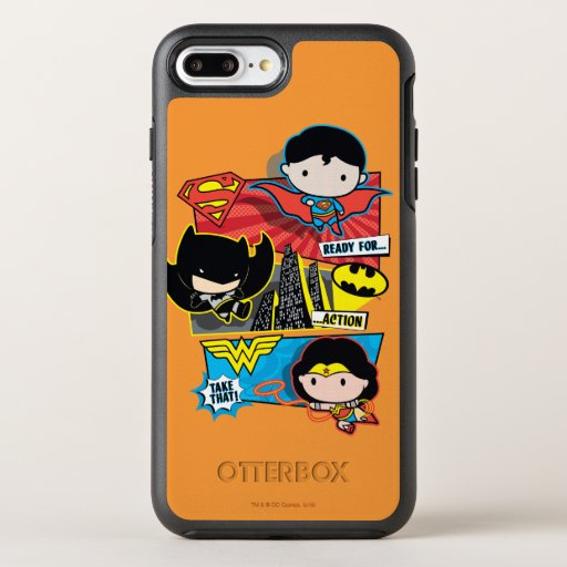 Chibi Heroes Ready For Action! OtterBox Symmetry iPhone 8 Plus/7 Plus Case