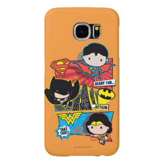 Chibi Heroes Ready For Action! Samsung Galaxy S6 Case