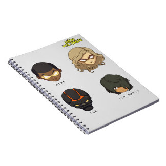Chibi Heroes Spiral Photo Notebook