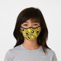Chibi Heroine Dance Pattern Premium Face Mask
