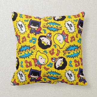 Chibi Heroine Dance Pattern Throw Pillow