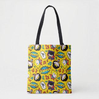 Chibi Heroine Dance Pattern Tote Bag