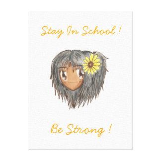 Chibi Hinata 'Be Strong' Canvas Canvas Print