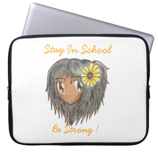 Chibi Hinata 'Be Strong' Laptop Sleeve