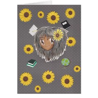 Chibi Hinata con el fondo del collage Tarjeta De Felicitación