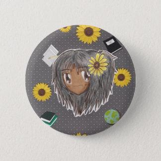 Chibi Hinata w/ collage background Pinback Button