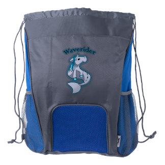 Chibi Hippocampus Drawstring Backpack