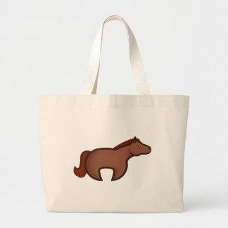 Chibi Horse Large Tote Bag
