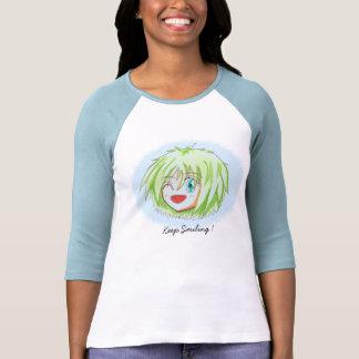 Chibi Izumi BabyBlue Keep-Smiling Raglan TShirt