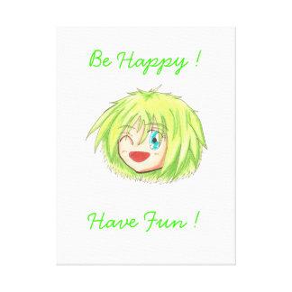 Chibi Izumi 'Be Happy' Canvas Canvas Print