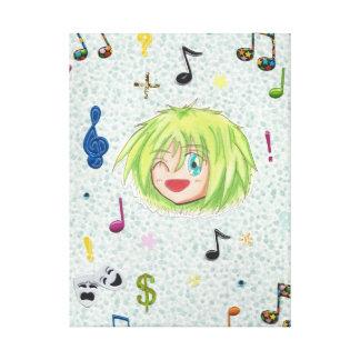 Chibi Izumi w/ Comedy collage Stretched Canvas Prints
