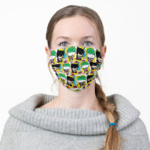 Chibi Joker and Batman Playing Card Pattern Adult Cloth Face Mask