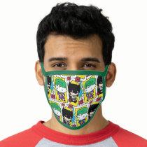 Chibi Joker and Batman Playing Card Pattern Face Mask