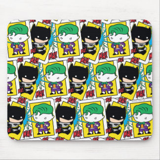 Chibi Joker and Batman Playing Card Pattern Mouse Pad