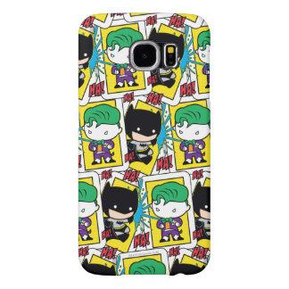 Chibi Joker and Batman Playing Card Pattern Samsung Galaxy S6 Case