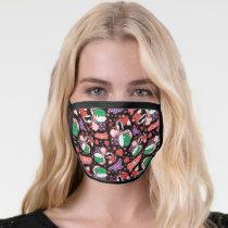 Chibi Joker and Harley Heart Pattern Face Mask