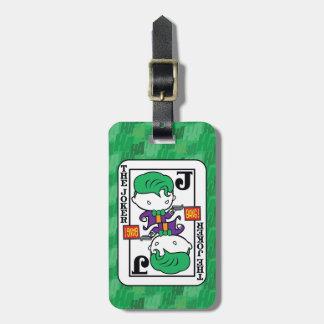 Chibi Joker Playing Card Bag Tag