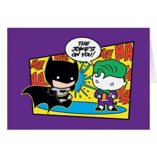 Chibi Joker Pranking Chibi Batman Card