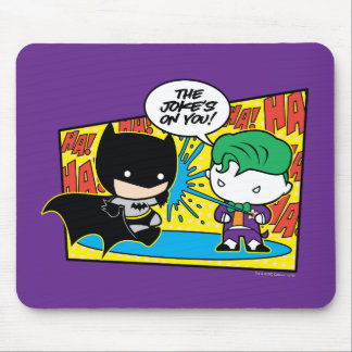 Chibi Joker Pranking Chibi Batman Mouse Pad