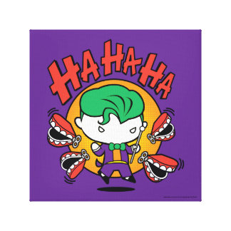 Chibi Joker With Toy Teeth Canvas Print