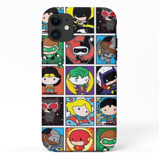 Chibi Justice League Character Pattern iPhone 11 Case