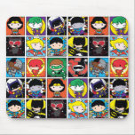 """Chibi Justice League Character Pattern Mouse Pad<br><div class=""""desc"""">Check out this cute pattern featuring Chibi Justice League heroes and villains each in their own grid: Batman,  Superman,  Wonder Woman,  Batgirl,  Supergirl,  Joker,  Harley Quinn,  Catwoman,  The Flash,  Green Lantern,  Cyborg,  and Bizarro.</div>"""