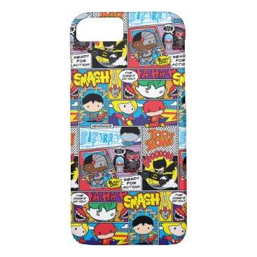 Chibi Justice League Comic Book Pattern iPhone 8/7 Case