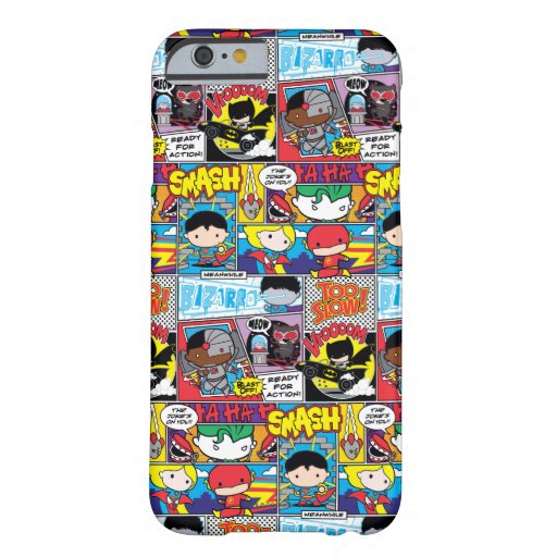 Chibi Justice League Comic Book Pattern Barely There iPhone 6 Case