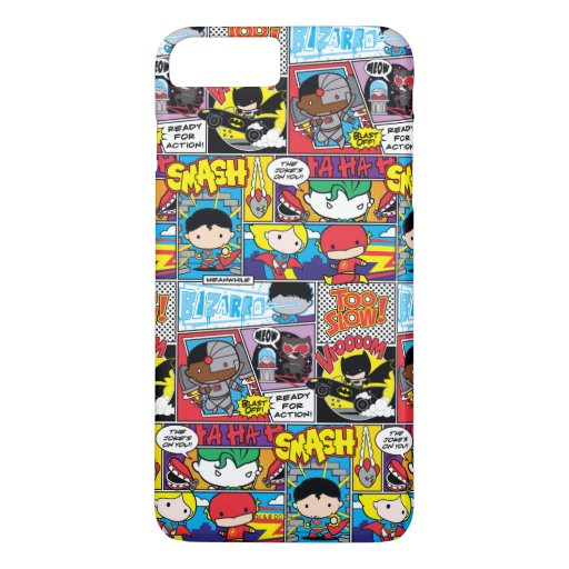 Chibi Justice League Comic Book Pattern iPhone 8 Plus/7 Plus Case