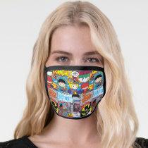 Chibi Justice League Comic Book Pattern Face Mask