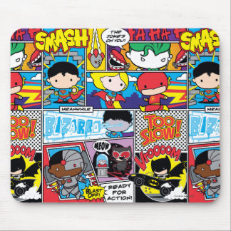 Chibi Justice League Comic Book Pattern Mouse Pad