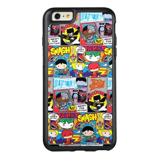 Chibi Justice League Comic Book Pattern OtterBox iPhone 6/6s Plus Case