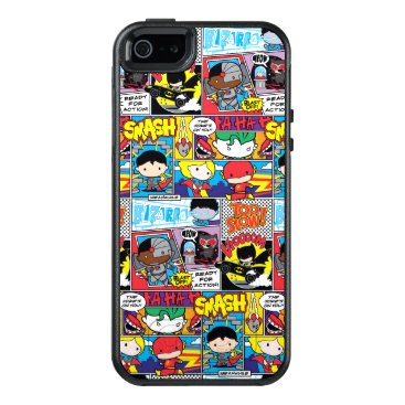 Chibi Justice League Comic Book Pattern OtterBox iPhone 5/5s/SE Case