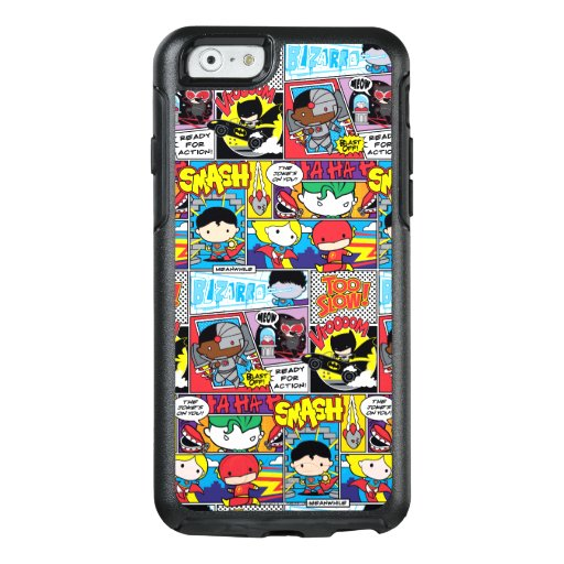Chibi Justice League Comic Book Pattern OtterBox iPhone 6/6s Case