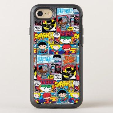 Chibi Justice League Comic Book Pattern OtterBox Symmetry iPhone 8/7 Case