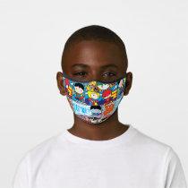 Chibi Justice League Comic Book Pattern Premium Face Mask