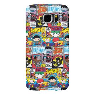 Chibi Justice League Comic Book Pattern Samsung Galaxy S6 Case