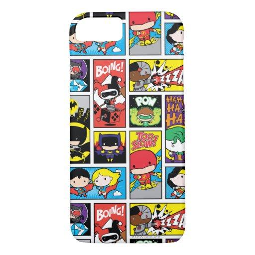 Chibi Justice League Compilation Pattern iPhone 8/7 Case