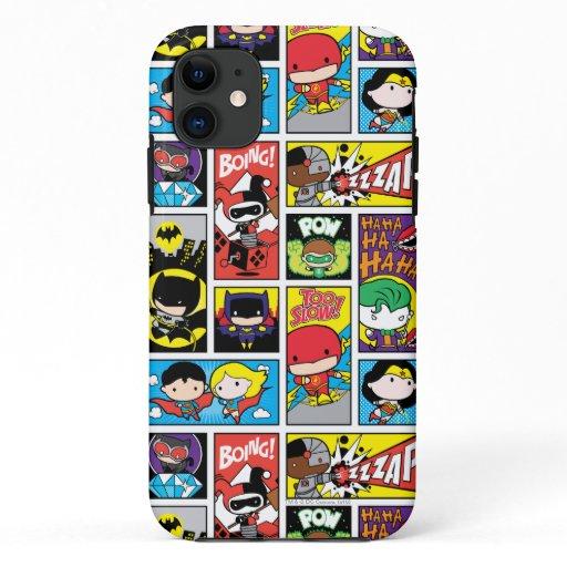Chibi Justice League Compilation Pattern iPhone 11 Case
