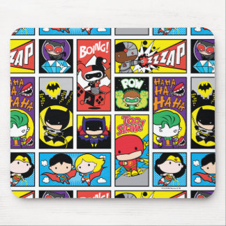 Chibi Justice League Compilation Pattern Mouse Pad