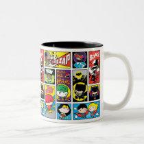 Chibi Justice League Compilation Pattern Two-Tone Coffee Mug