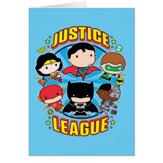 Chibi Justice League Group Card