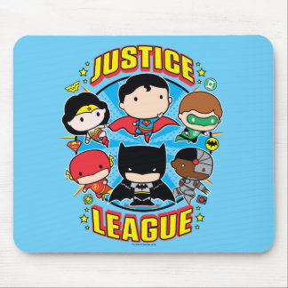 Chibi Justice League Group Mouse Pad