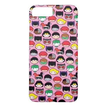 Chibi Justice League Head Pattern iPhone 8 Plus/7 Plus Case