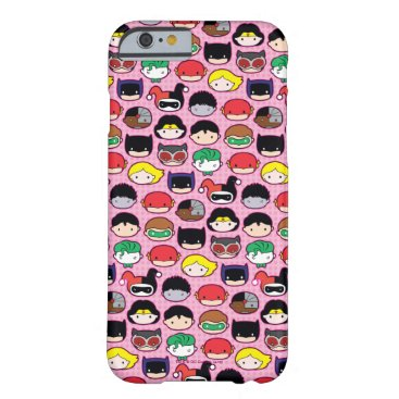 Chibi Justice League Head Pattern Barely There iPhone 6 Case