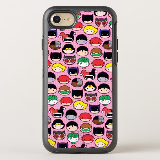 Chibi Justice League Head Pattern OtterBox Symmetry iPhone SE/8/7 Case