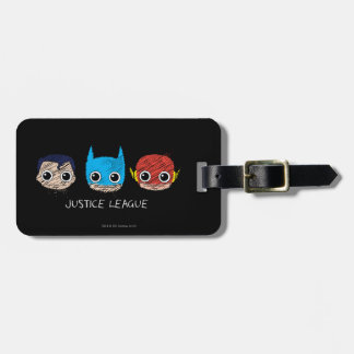 Chibi Justice League Heads Sketch Bag Tag